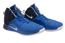 2018-19 DIRK NOWITZKI (MAVS) GAME WORN & DUAL-SIGNED NIKE HYPERDUNK X PLAYER EXCLUSIVE SHOES (KNICKS BALL BOY COLLECTION)