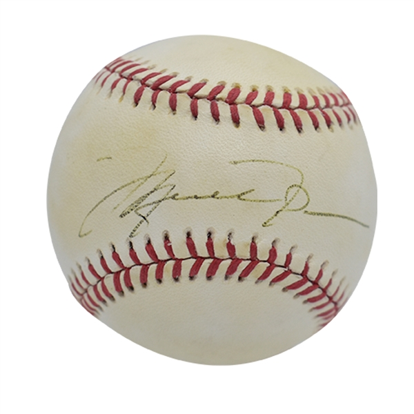 MICHAEL JORDAN SINGLE SIGNED ONL (WHITE) BASEBALL