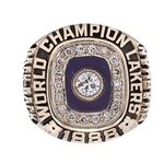 BILL SHARMANS 1988 LOS ANGELES LAKERS NBA WORLD CHAMPIONS 14K GOLD RING (SHARMAN FAMILY LOA)