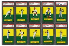 1964 TOPPS STAND-UP COMPLETE SET OF (77) RANKED #24 ON PSA REGISTRY - INCLUDES 3 HANK AARON CARDS
