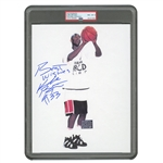 "KOBE BRYANT (HIGH SCHOOL ERA) SIGNED & INSCRIBED (""BEST WISHES #33"") 1995 ADIDAS ABCD CAMP PHOTO - PSA/DNA NM-MT 8 AUTO. (TIM GALLAGHER COLLECTION)"