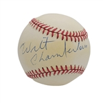 WILT CHAMBERLAIN SINGLE SIGNED OAL (BUDIG) BASEBALL