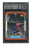 1986-87 FLEER #57 MICHAEL JORDAN AUTOGRAPHED ROOKIE (BECKETT DUAL GRADE: CARD MINT 9; AUTO. 9) - THE GREATEST OVERALL MJ CARD EVER OFFERED! (TIM GALLAGHER COLLECTION)