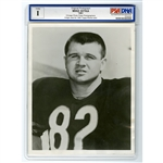 1961 MIKE DITKA CHICAGO BEARS ROOKIE SEASON ORIGINAL 8x10 PHOTO USED FOR HIS 1962 TOPPS #17 ROOKIE CARD (PSA/DNA TYPE I)