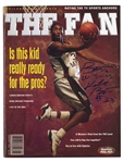 KOBE BRYANT (LOWER MERION H.S. ERA) PERFECTLY SIGNED & INSCRIBED JAN. 1996 ISSUE OF THE FAN MAGAZINE - PSA/DNA GEM MINT 10 AUTO. (TIM GALLAGHER COLLECTION)