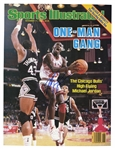 "MICHAEL JORDAN AUTOGRAPHED 11/17/1986 SPORTS ILLUSTRATED COVER (""ONE MAN GANG"") - BECKETT 10 AUTO. (TIM GALLAGHER COLLECTION)"