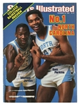 "MICHAEL JORDAN AND SAM PERKINS DUAL-SIGNED 11/28/1983 SPORTS ILLUSTRATED COVER (""NO. 1 NORTH CAROLINA"") - BECKETT 10 AUTO. (TIM GALLAGHER COLLECTION)"