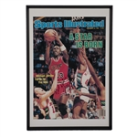 "MICHAEL JORDAN BEAUTIFULLY SIGNED & INSCRIBED (""BEST WISHES"") OVERSIZED POSTER OF 12/10/1984 SI COVER (""A STAR IS BORN"") FROM THE TIM GALLAGHER COLLECTION"