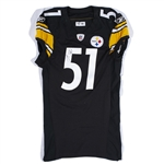 2010 JAMES FARRIOR PITTSBURGH STEELERS GAME WORN JERSEY POUNDED & EASILY PHOTO-MATCHED TO 1/23/2011 AFC CHAMPIONSHIP WIN VS. NYJ