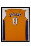 KOBE BRYANT AUTOGRAPHED LOS ANGELES LAKERS #8 HOME JERSEY (PROFESSIONALLY FRAMED)