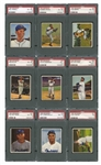 1950 BOWMAN BASEBALL COMPLETE SET OF (252) WITH 74 PSA GRADED INCL. JACKIE, TED & YOGI