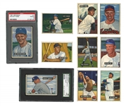 1951 BOWMAN BASEBALL NEAR COMPLETE SET (322/324) WITH #253 MANTLE (SGC 50 VG-EX 4) AND #305 MAYS (PSA PR 1))