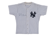 1987 RICKEY HENDERSON SIGNED NEW YORK YANKEES GAME WORN HOME JERSEY W/ MULTIPLE PHOTO-MATCHES INCL. 87 ALL-STAR GAME (SPORTS INVESTORS LOA)