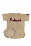 1952 EARLY WYNN CLEVELAND INDIANS GAME WORN HOME FULL UNIFORM - TIED HIS CAREER-HIGH IN WINS (SGC EXCELLENT-SUPERIOR)