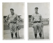 C. 1927 PAIR OF BABE RUTH AND LOU GEHRIG INDIVIDUAL SNAPSHOTS
