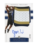2019-20 PANINI NATIONAL TREASURES #108 ZION WILLIAMSON ROOKIE TRI-COLOR AUTO PATCH #19/99