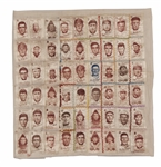 1910-11 S74 WHITE SILKS LOT OF (54) INCL. DELANTY, BENDER, BRESNAHAN (2), CHASE (2), SCHULTE, REULBACH, PHILLIPPE (2), QUINN, CRANDALL, MERKLE, ETC. (YAHTZEE BOX FIND)