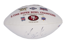COLIN KAEPERNICK AUTOGRAPHED SAN FRANCISCO 49ERS 5-TIME SUPER BOWL CHAMPIONS COMMEMORATIVE FOOTBALL
