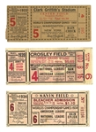 TRIO OF WORLD SERIES TICKET STUBS INCL. 1933 (GAME 5, SENATORS VS. GIANTS), 1934 (GAME 6, CARDS VS. TIGERS) & 1939 (RED VS. YANKS)