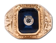 1956 NEW YORK GIANTS NFL WORLD CHAMPIONS 10K GOLD RING PRESENTED TO DEFENSIVE TACKLE JIM KATCAVAGE
