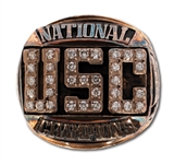 CHARLES WHITES 1978 USC TROJANS NATIONAL CHAMPIONS 10K GOLD RING