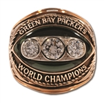 RAY NITSCHKES 1967 GREEN BAY PACKERS SUPER BOWL II WORLD CHAMPIONS 14K GOLD RING (NITSCHKE FAMILY LOA)