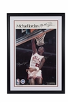MICHAEL JORDAN BOLDLY SIGNED EARLY CAREER LARGE FORMAT (24x36) POSTER - HUGE AUTOGRAPH! GRADED BECKETT GEM MINT 10!