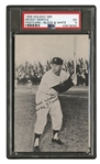 1958 HOLIDAY INN MICKEY MANTLE POSTCARD - PSA EX 5