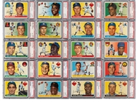 1955 TOPPS BASEBALL COMPLETE SET OF (206) RANKED #15 ON PSA REGISTRY WITH 7.93 SET RATING (ONLY TWO CARDS BELOW PSA NM-MT 8)