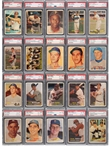 1957 TOPPS BASEBALL PSA GRADED NEAR COMPLETE SET (406/407) WITH 8.0 GPA (ALL PSA NM-MT 8 OR HIGHER)