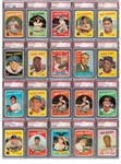 1959 TOPPS BASEBALL COMPLETE MASTER SET (572 + 9 VARIATIONS) RANKED #11 ON PSA REGISTRY WITH 8.06 SET RATING (ONLY TWO CARDS BELOW PSA NM-MT 8)
