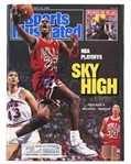 "MICHAEL JORDAN AUTOGRAPHED 5/16/1988 SPORTS ILLUSTRATED MAGAZINE (""NBA PLAYOFFS - SKY HIGH"")"