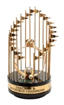 ROLLIE FINGERS 1974 OAKLAND AS WORLD SERIES CHAMPIONS FULL-SIZE TROPHY (FINGERS LOA)