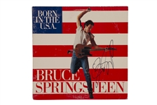 "BRUCE SPRINGSTEEN AUTOGRAPHED 1984 ""BORN IN THE USA"" ALBUM COVER WITH VINYL RECORD INCLUDED"