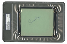 RONALD REAGAN AUTOGRAPHED ALBUM PAGE - PSA/DNA MINT 9