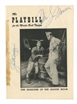 "1954 JOE DiMAGGIO & MARILYN MONROE DUAL-SIGNED BROADWAY PLAYBILL (""THE TEAHOUSE OF THE AUGUST MOON"" AT MARTIN BECK THEATRE)"