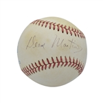 DEAN MARTIN SINGLE SIGNED OAL (BROWN) BASEBALL - VERY SCARCE