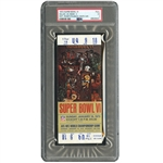 1972 SUPER BOWL VI (DALLAS 24 - MIAMI 3) WHITE VARIATION FULL TICKET – PSA VG 3