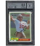 1981 TOPPS FOOTBALL #216 JOE MONTANA ROOKIE AUTOGRAPHED - BGS NM-MT+ 8.5 CARD / BGS NM-MT 8 AUTO.