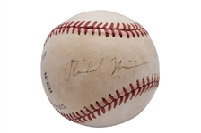 PRESIDENT RICHARD NIXON SINGLE SIGNED ONL (GIAMATTI) BASEBALL