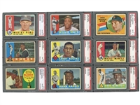 1960 TOPPS BASEBALL COMPLETE SET OF (572) - ALL PSA NM 8 OR HIGHER