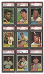 1961 TOPPS BASEBALL COMPLETE SET OF (587) - ALL PSA NM 8 OR HIGHER AND RANKED #8 ON PSA REGISTRY