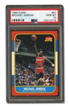 1986 FLEER #57 MICHAEL JORDAN - PSA GEM-MINT 10
