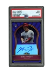 "2011 FINEST ""ROOKIE AUTOGRAPHS"" (PURPLE REFRACTORS) #84 MIKE TROUT SIGNED RC (#5/5) - PSA MINT 9"