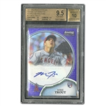 2011 BOWMAN STERLING ROOKIE AUTOGRAPHS PURPLE REFRACTORS #19 MIKE TROUT (10/10) - BGS GEM MINT 9.5 AUTO 10