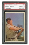 1953 BOWMAN COLOR #59 MICKEY MANTLE - PSA NM-MT 8