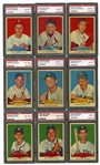 1954 RED HEART BASEBALL COMPLETE SET OF (33) - ALL PSA NM 8 OR HIGHER - RANKS #7 ON PSA REGISTRY