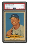 1954 RED HEART MICKEY MANTLE - PSA MINT 9 (ONLY TWO HIGHER)