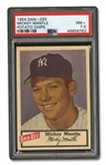 1954 DAN-DEE POTATO CHIPS MICKEY MANTLE - PSA NM+ 7.5