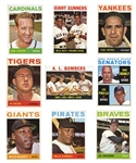 1964 TOPPS BASEBALL COMPLETE SET INCL. #50 MICKEY MANTLE PSA NM 7